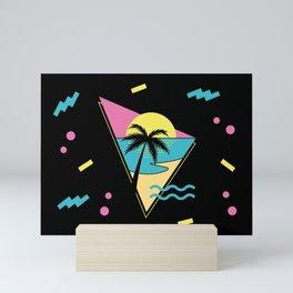 Memphis pattern 42 - 80s / 90s Retro / palm tree / summer Mini Art Print