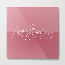Jeremy Bearimy Pink Color Block Metal Print