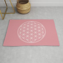 Flower of Life on Rococo Rose Rug