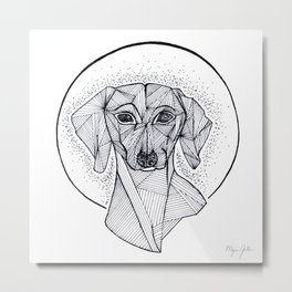 Jarvis the Dachshund Metal Print