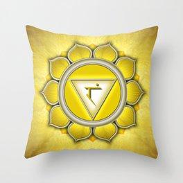 Manipura Chakra - Solar Plexus Chakra - Series II Throw Pillow