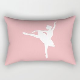 Pink and white Ballerina Rectangular Pillow