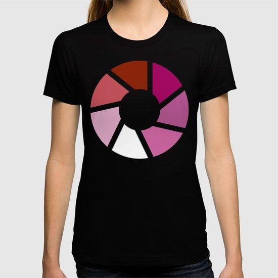 Lesbian Pride Flag Circle by spacetimedesigns