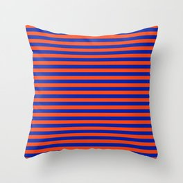 Florida Team Colors Stripes Throw Pillow