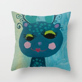 Little Deer : #Funny creature Series Throw Pillow