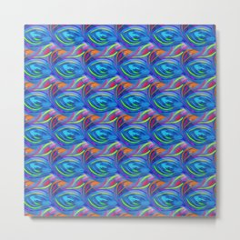 Colorful  blue scales Metal Print