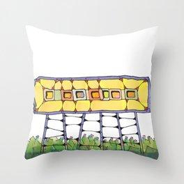 Funky yellow architectural design 51 Throw Pillow