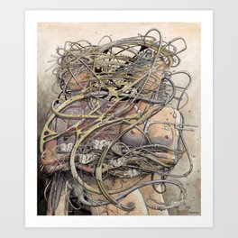 de hypterion II - Meta-Union - Biomechanic Love Art Print