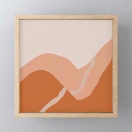 a pale trail Framed Mini Art Print