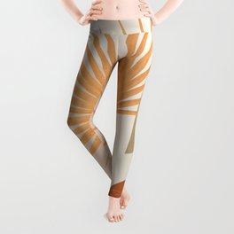 Tropical Leaf- Abstract Art 49a Leggings