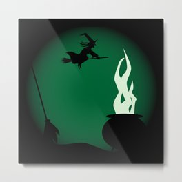 Halloween Witch Poster Background Metal Print