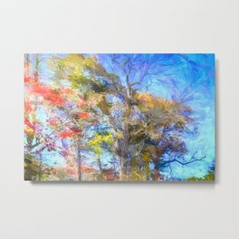 Sleepy Hollow Autumn Art Metal Print