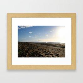 BARKING SANDS AT SUNSET Framed Art Print