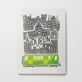 Dublin Cityscape Metal Print