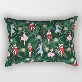 The Nutcracker Christmas Tree Ornaments Rectangular Pillow