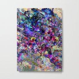 Creature Among the Flowers Metal Print