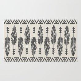 Tribal Feathers-Black & Cream