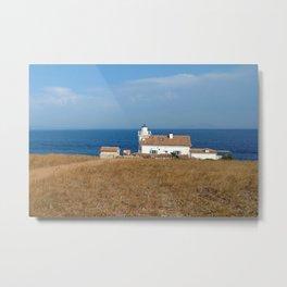 beach front lighthouse medulin croatia Istria Metal Print
