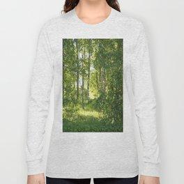 Beautiful Morning Summer Greenery #decor #society6 #buyart Long Sleeve T-shirt