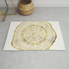 Paper Birch – Gold Tree Rings Rug