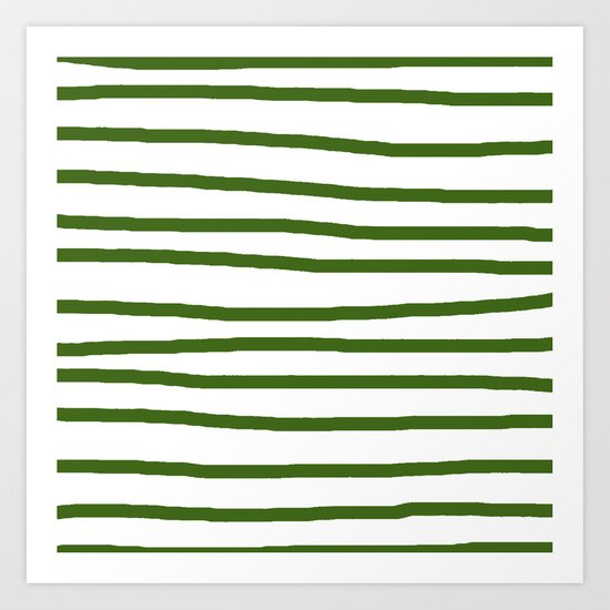 Simply Drawn Stripes in Jungle Green by followmeinstead