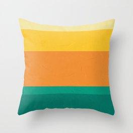 Five Shades of Sunset Throw Pillow