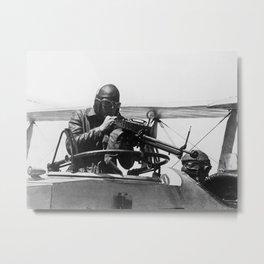 Aerial Machine Gun Target Practice - WW1 Metal Print
