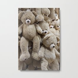 Teddy Bear Hang Out Metal Print