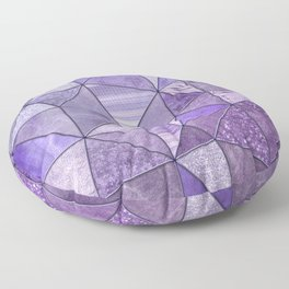 Purple Lilac Glamour Shiny Stained Glass Floor Pillow