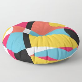 Bright Shapes Abstract Floor Pillow
