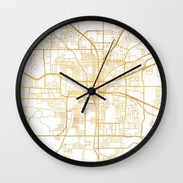 TALLAHASSEE FLORIDA CITY STREET MAP ART Wall Clock