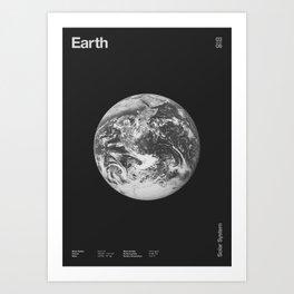 Solar System _ 03 Earth Art Print