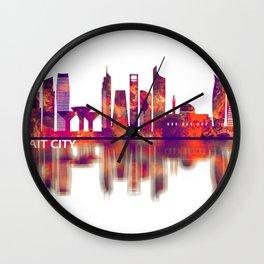 Kuwait City Kuwait Skyline Wall Clock