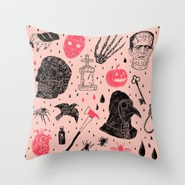 Whole Lot More Horror Throw Pillow
