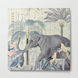 The Journey of the Elephant Metal Print