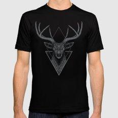 Dark Deer Black MEDIUM Mens Fitted Tee