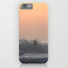 Lone Surfer iPhone Case