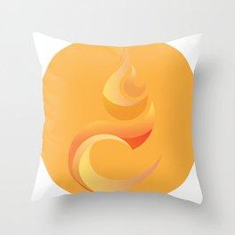 Solar plexus chakra   fire Throw Pillow