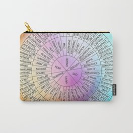 Wheel Of Emotions Carry-All Pouch
