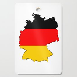 German Flag Map Cutting Board