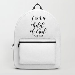 I AM A CHILD OF GOD Backpack