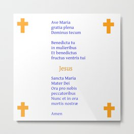 Ave Maria Latin version 2 Metal Print