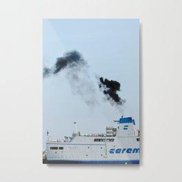 Boat in the harbor of Capri, Italy     Fine art travel photography print Italy   Metal Print