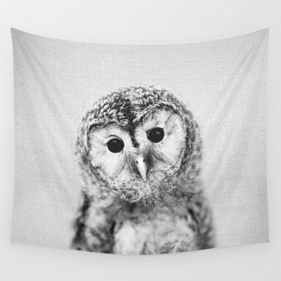 Baby Owl - Black & White by galdesign