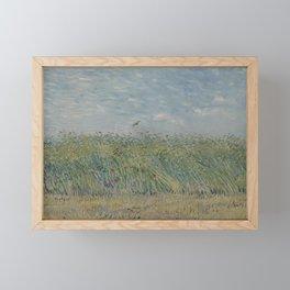 Wheatfield with Partridge Framed Mini Art Print