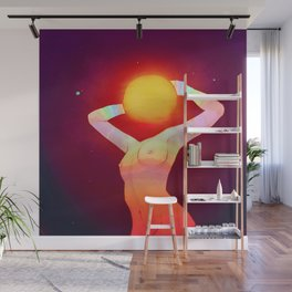 Sun Head Wall Mural