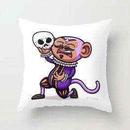 Shakespearean Monkey Throw Pillow
