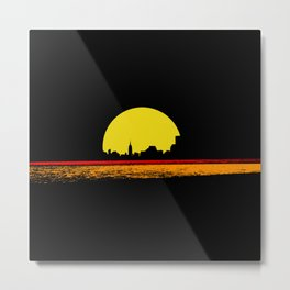 minimal sunset Metal Print