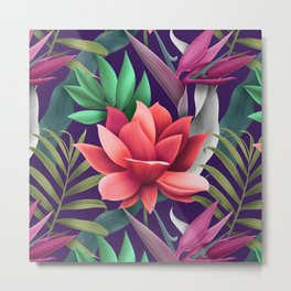 The Enchanted Lotus Metal Print