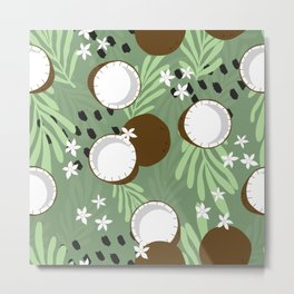 Coconut pattern 01 Metal Print